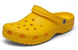 N-B Men Sandals Summer Hole Shoes Rubber Clogs Girl PU Lovers Garden Shoes Black Beach Flat Sandals Slippers