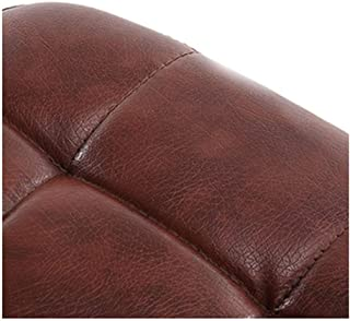 HLM- Simplicity High Stool Rotating with Backrest Pu Leather Upholstered Bar Stool Breakfast Bar Stool Suitable for Kitchen Restaurant Cafe Bar Bar Stool (Color : Brown)
