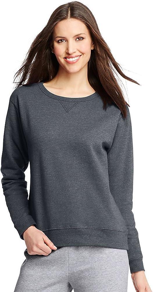 Hanes ComfortSoft EcoSmart Women's Crewneck Sweatshirt_Slate Heather