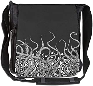 CUW BBCUW Unisex Casual Satchel Messenger Bags Ocean Beluga Whale Crossbody Shoulder Bag Hiking Bags for School/Work/Trips