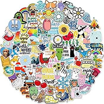 Stickers for Water Bottles 100 Pack/PCS Hydroflask Stickers Aesthetic Waterproof Cute Vsco Vinyl Stickers Laptop Skateboard Luggage Computer Stickers for Teens Girls Kids