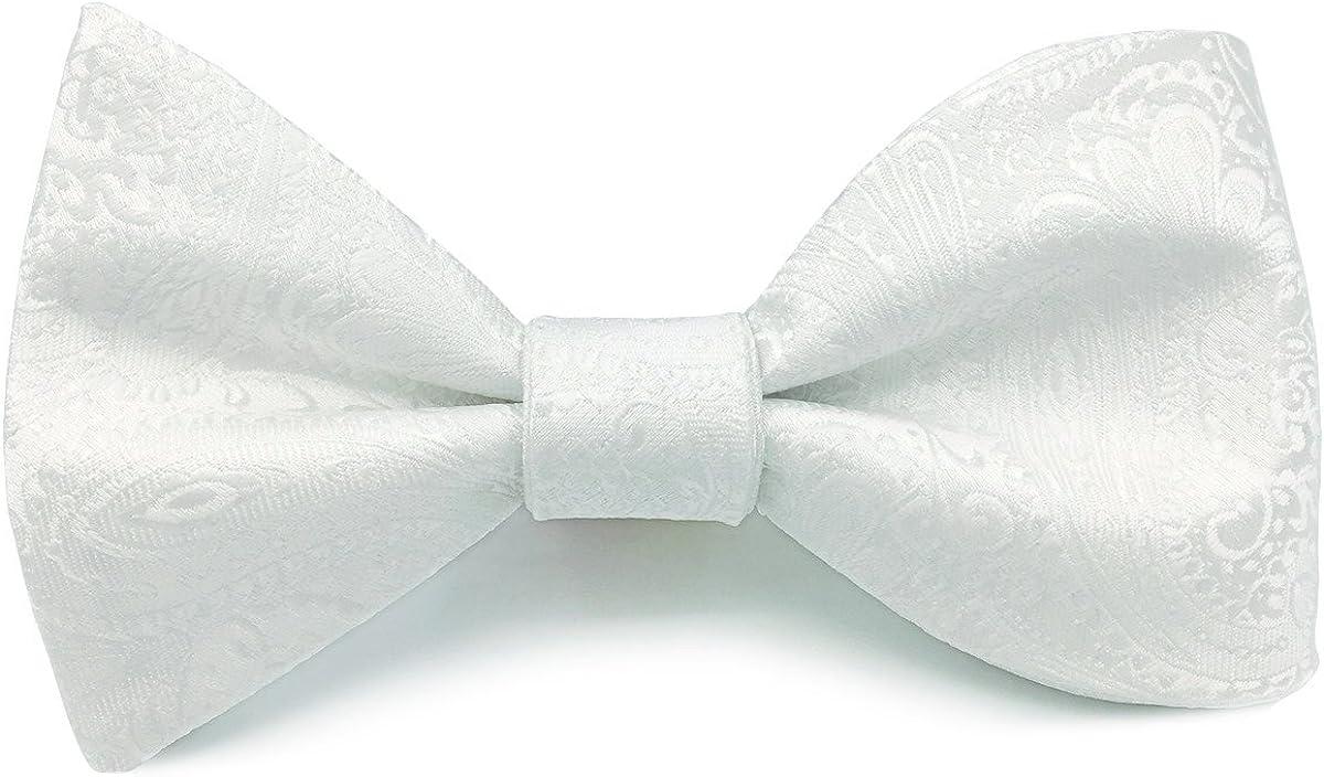 S&W SHLAX&WING Tie Set Extra Long Silk Neckties White Paisley