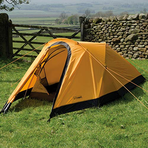 Snugpak journey duo 2 person tent, waterproof, windproof, sunburst orange
