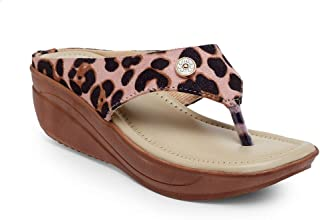 Butterflies Steps Latest Collection, Comfortable Wedges Sandalfor Women's & Girl's (Peach) (GHS-0023PCH)