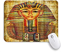 VAMIX マウスパッド 個性的 おしゃれ 柔軟 かわいい ゴム製裏面 ゲーミングマウスパッド PC ノートパソコン オフィス用 デスクマット 滑り止め 耐久性が良い おもしろいパターン (パピルスのエジプトの女王王子)