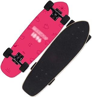 LJHBC スケートボード 子供用ペニースケートボード 22.5×5.9インチ メープルデッキ 10代の若者/男の子や女の子に適して 83A高弾性PUホイール ベアリング容量260ポンド