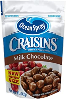 Ocean Spray Craisins Dried Cranberries, Milk Chocolate Covered, 5 Ounce (Pack of 12)
