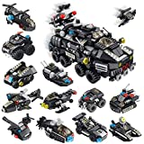 Holiky STEM Building Toys for 6-12 Year Old Boys and Girls, 25-in-1 Police Car Educational Construction Set Creative Engineering Building Bricks Construction Kit, Best Gifts for Kids