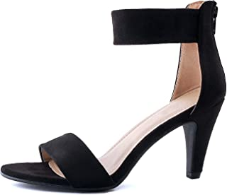 60c22deaf3f Guilty Shoes Women s Ankle Strap Open Toe Comfortable High Heels Dress  Wedding Party Heeled Sandals