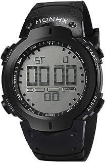 ساعة يد للرجال بسوار سيليكون ومينا رمادية من هونكس- طراز XYQ611261-21BK