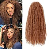 K&G HAIR 3Packs Marley Braiding Hair 18Inch Afro Marley Hair For Twists Synthetic Kinky Braiding Hair Extensions (#30)