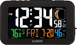 La Crosse Technology 617-1485B Atomic Color Alarm Clock with USB Charging Port (Limited Edition)