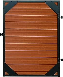 Natures Composites Santa Fe 4 ft. x 6 ft. Timber Brown/Black Composite/Steel Privacy Fence Gate