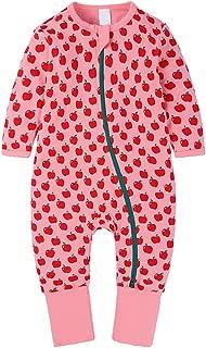 Inlefen Newborn Baby Fashion Zipper Long Sleeve Printing Pattern Autumn Winter Rompers Jumpsuit