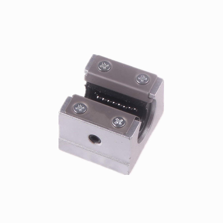 tornos molinos DQLWFB 2 barras de eje lineal SBR20-200 mm con 4 bloques deslizantes de rodamientos SBR20UU gu/ía de riel lineal SBR20 para bricolaje enrutadores CNC