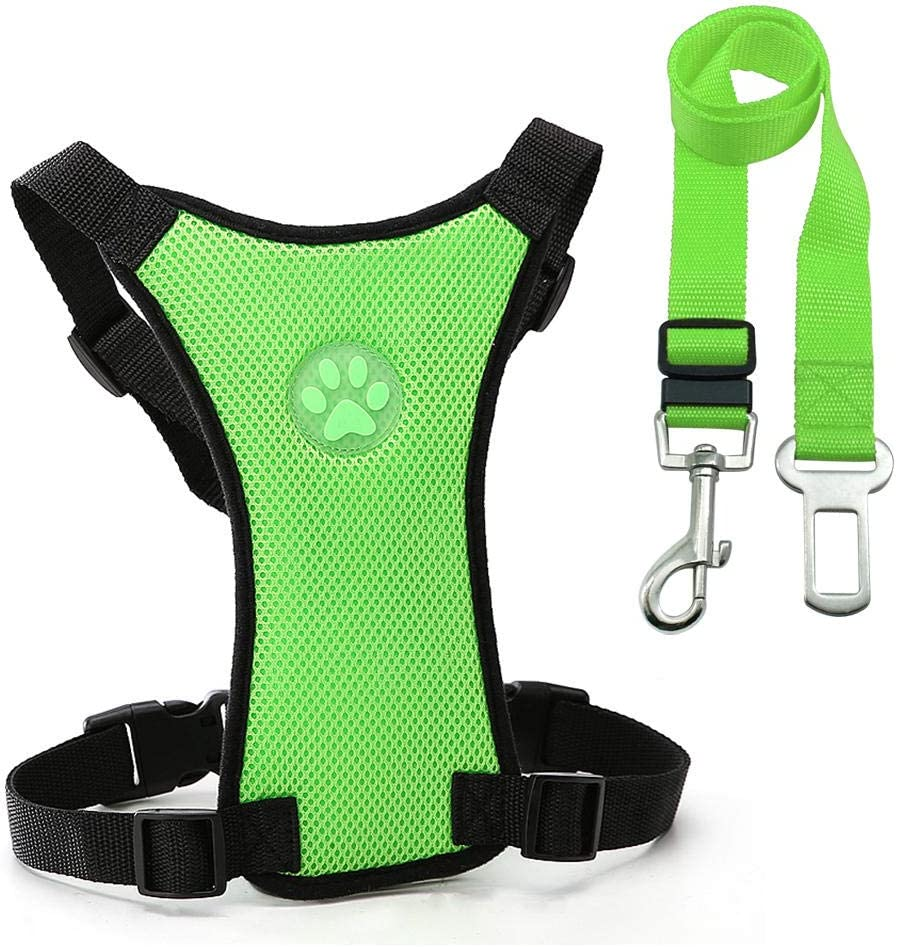Dog seat Belt and Max 45% OFF Leash Safety Harness Car pet Set New item