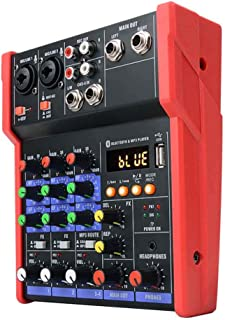 $45 » Mini Audio Mixer, 4 Channels KTV Stereo Live Performance Music DJ Console uetooth Karaoke Stage Protable Sound Card Studio...