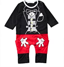 stylesilove Baby Boy Mickey Mouse Inspired Costume Jumpsuit