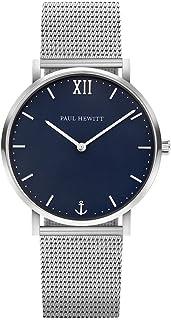Reloj de muñeca para Hombre o Mujer en Acero Inoxidable Sailor Blue Lagoon - Reloj con Correa de Acero Inoxidable, Reloj de muñeca para Hombre o Mujer Plateado con Esfera Azul