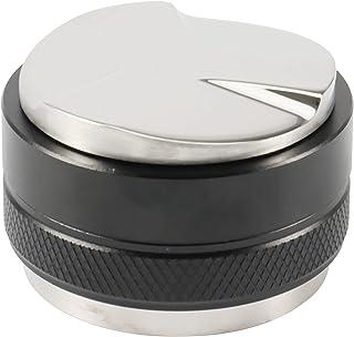 Camisin Distributeur de café 51 mm, double tête 2 en 1, avec tapis de tamper et brosse de nettoyage