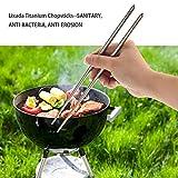 Lixada 1 Pair Reusable Chopsticks/Essstäbchen, Hergestellt aus Titan/Hygienisch und Extrem Haltbar - 6