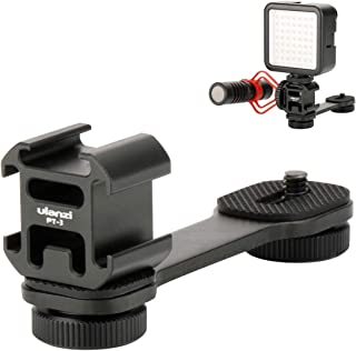 ULANZI PT-3 Cold Shoe Mount, 3 Mount Adapter for Gimbal Stabilizer Microphone, Video Light Mount