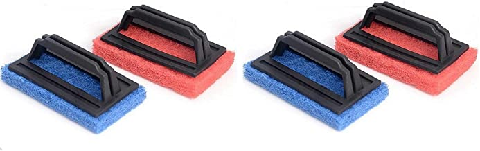Tile Cleaning Multipurpose Scrubber Brush with Handle (Set of 4)