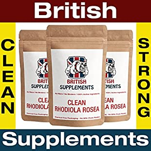 Clean Rhodiola Rosea Extract 2,166mg (4% Salidrosides 14.4mg) Capsules British Supplements No Nasties Rare High Strength Strong 3 Month Supply (90)