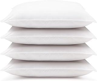 DOWNLITE 4 Pack Hotel Style Hypoallergenic Down Alternative Value Pillow - Soft/Medium Density - Jumbo 20 x 28 - Sham Stuffer