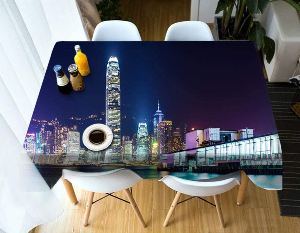 YPDWYJL 3D Deluxe Picnic Cloth Big City Table Suitable Max 60% OFF f Building