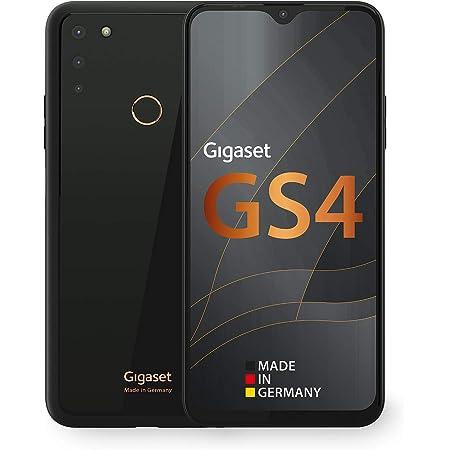 Gigaset Gs4 Smartphone Made In Germany Leistungsstarker 4300mah Akku Mit Schnellladefunktion 6 3 Zoll Full Hd V Notch Display Nfc 4gb Ram 64gb Interner Speicher Android 10 Deep Black Elektronik