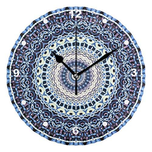 Sunop Uhr für Kinder, mit Öl bedruckt, 1 symmetrisches Muster im Jugendstil, Wanduhren für Wohnzimmer, Schlafzimmer und Küche, Vintage-Stil