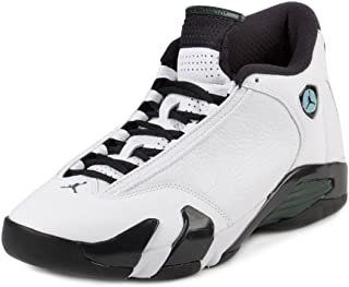 6a478805975 Nike Mens Air Jordan 14 Retro Oxidized Green White/Black-Oxidized Green  Leather Size