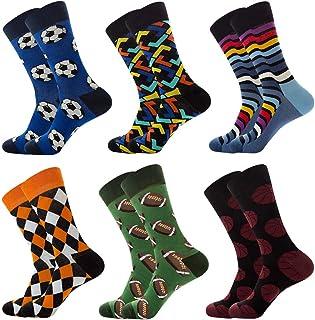 6 Pares de Calcetines Hombre Invierno, Elegantes Calcetines Termicos Mujer Invierno, Calcetines Mujer Colores de Algodón de Fiesta Para Hombres y Mujeres