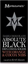 Montezuma's Dark Chocolate Absolute Black with Orange and Cocoa Nibs (2 Pack)