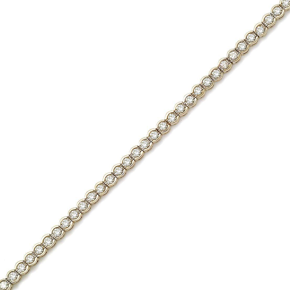 Ranking TOP7 14K Yellow Gold Round Diamond Tennis Bracelet Circular Style Philadelphia Mall