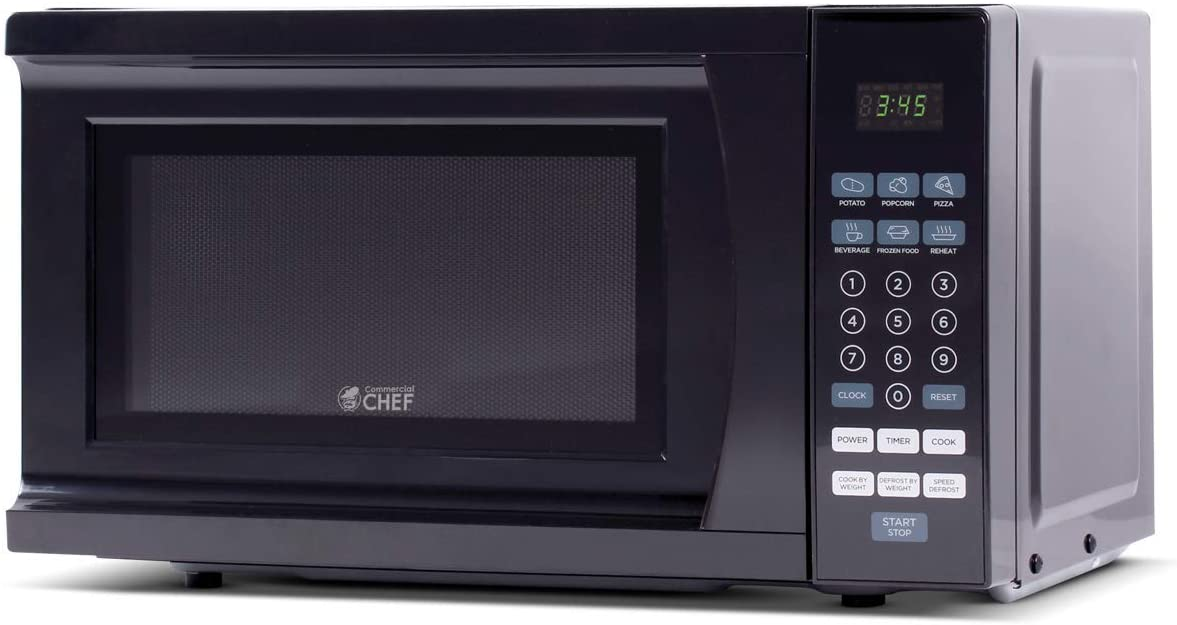 Commercial Chef CHM770B Microwave for Small Kitchen