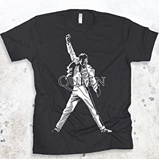 QUEEN Freddie Mercury Legendary Pose Rock Band Mens T-shirt Size S-4XL