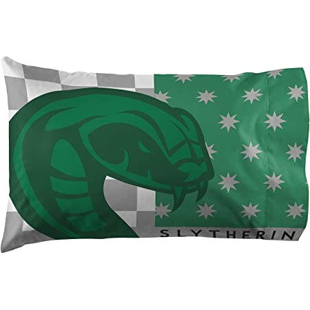 1-Harry Potter SLYTHERIN House Crest Standard Size Pillowcase New and Handmade!