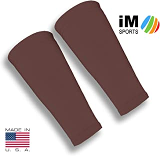 iM Sports Attacker Volleyball Forearm 9 Inch Mild Compression Sleeves + Fits Adults & Youth + Made in USA - No-Slip Gripper (Pair of Volleyball Forearm Sleeves)
