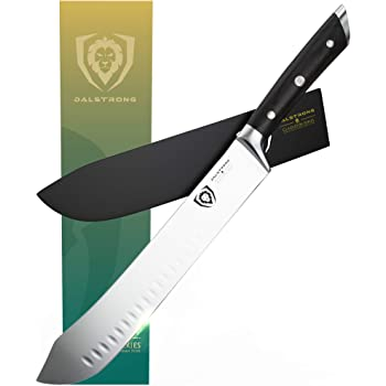 """Dalstrong - 10"""" Bull Nose Butcher Breaking Knife - Gladiator Series - HC Steel - Sheath Guard Included"""