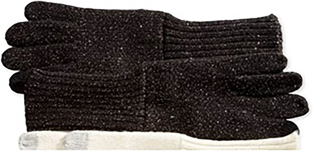 Inc International Concepts Women's Long Lurex Knit Touch Screen Gloves Black O/S