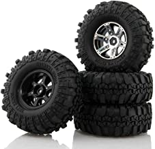 Boliduo 110mm RC Rock Crawler Tires with Metal 1.9 Inch Beadlock Wheel Rim for 1/10 Scale Traxxas AXIAL SCX10SCX10 RC4WD D90 TF2 RC Car Parts