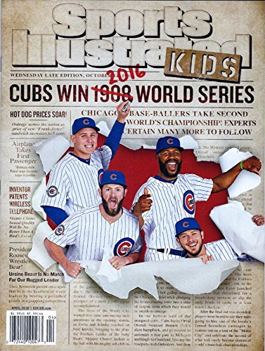 Sports Illustrated Kids Magazine Chicago Cubs Win 2016 World Series April 2016 + Cards