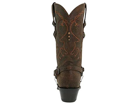 Tan Durango Crush Brown Cowgirl Brown Boot BrownSaddle W amp; qaPYqrU