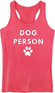 GROWYI Funny Workout Tank Tops Racerback for Women Dog Person Graphic Print Fitness Gym Sleeveless Shirt