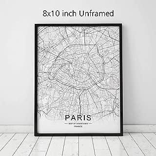 Best black and white paris map Reviews