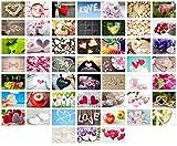 Edition Seidel Set 52 Premium Postkarten zur Hochzeit - Hochzeitsspiel: eine Postkarte jede Woche - Hochzeitsgeschenk - Liebe + Herzen – Dekoidee – Valentinstag - Gästebuch - Geburtstag - Danke