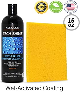 Aerolon Tech Shine (16 Ounce) Fast Wet-Applied Polymeric Car Wax Coating, Top Coat Polish and Sealer for Car Bike Boat, Auto Detailing Accessory for Hydrophobic Mirror Shine and Super Gloss