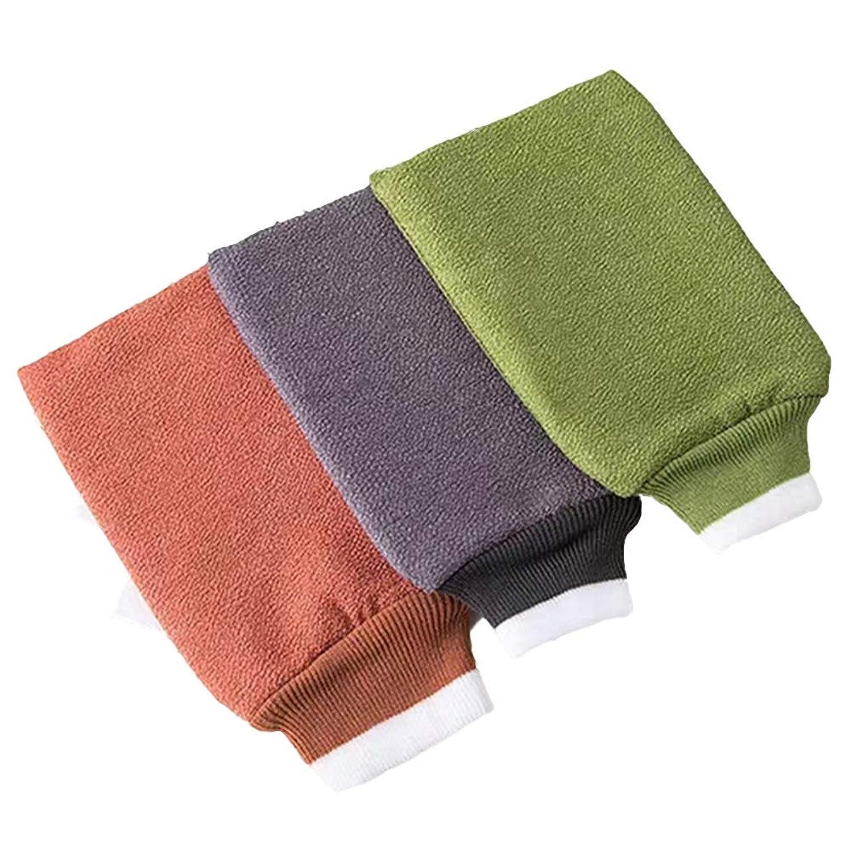 TOPBATHY 6ピースバスウォッシュタオル剥離バスグローブバックスクラバーデュアルサイドバスタオル用ボディ用入浴シャワースパブラシ